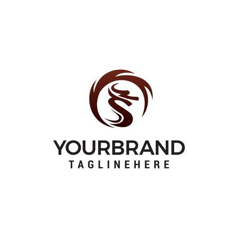 Modèle de logo Dragon. design concept template vecteur