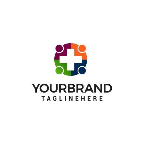 medizinische Menschen Logo Design Konzept Vorlage Vektor