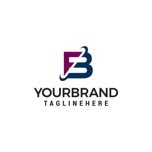 Vector de plantilla de concepto de letra fb empresa logotipo diseño