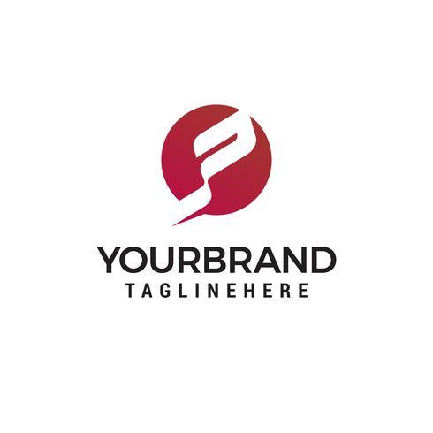 Buchstabe P Tech Logo Design Konzept Vorlage Vektor