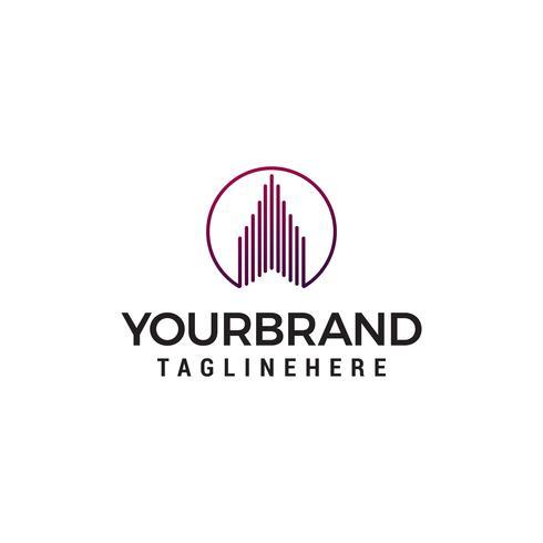 vetor de modelo de conceito de design de logotipo imobiliário