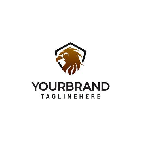 eagle shield logo design concept template vector