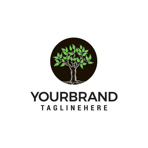vetor de modelo de conceito de design de logotipo de árvore