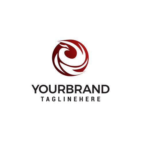 Adler abstrakte Logo Design Konzept Vorlage Vektor
