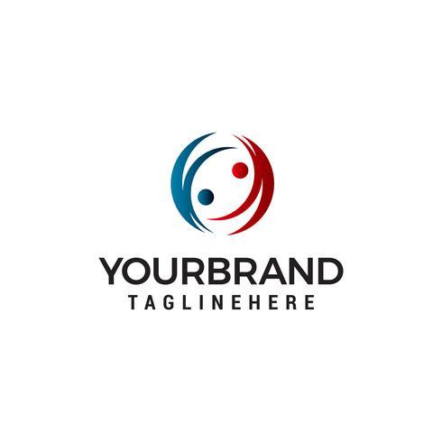 Gente comunicación logo diseño concepto plantilla vector