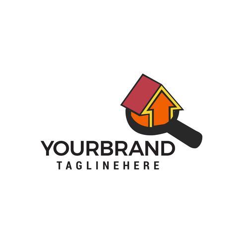 ricerca casa logo design concetto modello vettoriale