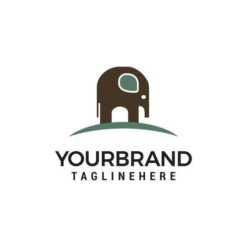 Elefante logo diseño concepto plantilla vector