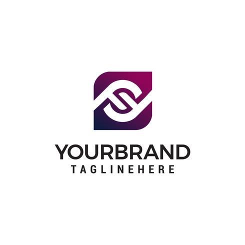 lettera ff logo design concetto modello vettoriale