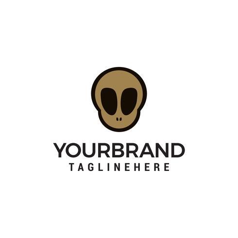 logo del cranio nel vettore di modello di stile di design piatto stile alla moda