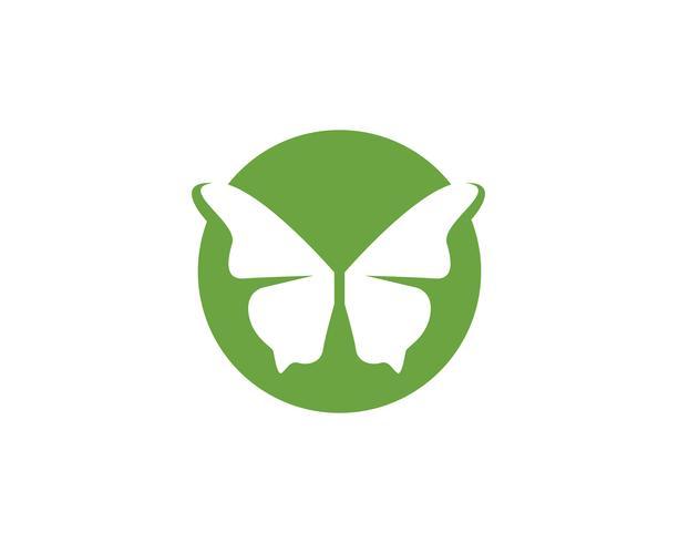 Mariposa conceptual simple, colorido icono. Logo. Ilustración vectorial