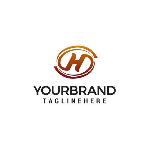 Buchstabe h elegantes Logo Design Konzept Vorlage Vektor