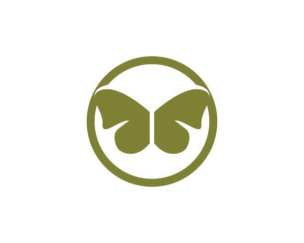 Farfalla concettuale semplice, colorato icona illustrazione vettoriale