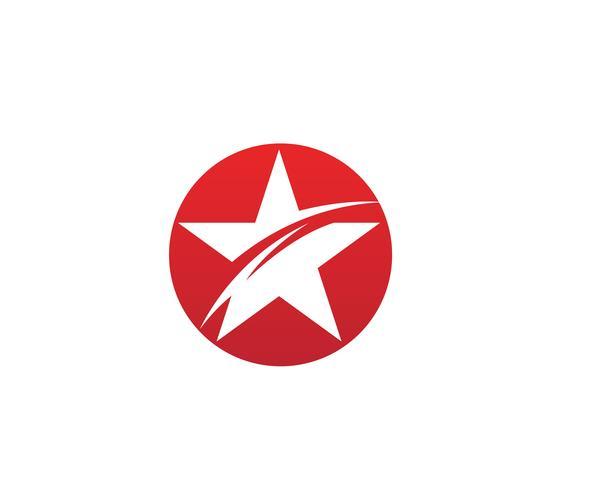 Diseño del ejemplo del icono del vector del logotipo de la estrella