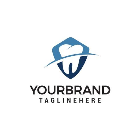 modelo de logotipo dental. símbolo de ícone de cuidados dentários projeta vetor de modelo de conceito de design