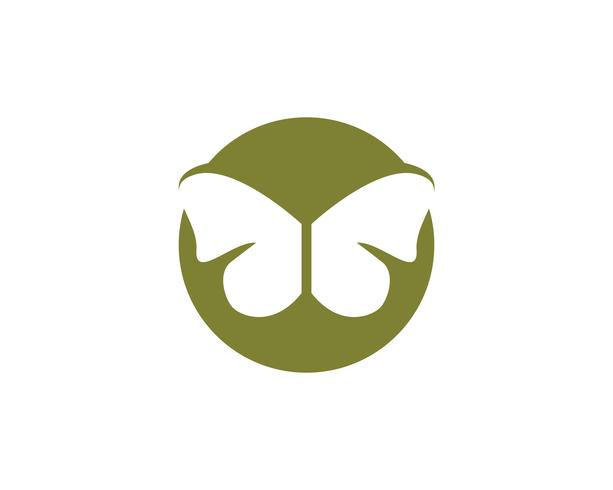 Borboleta simples conceitual, ícone colorido. Logotipo. Ilustração vetorial vetor