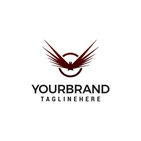 asa pássaro logotipo design conceito modelo vector