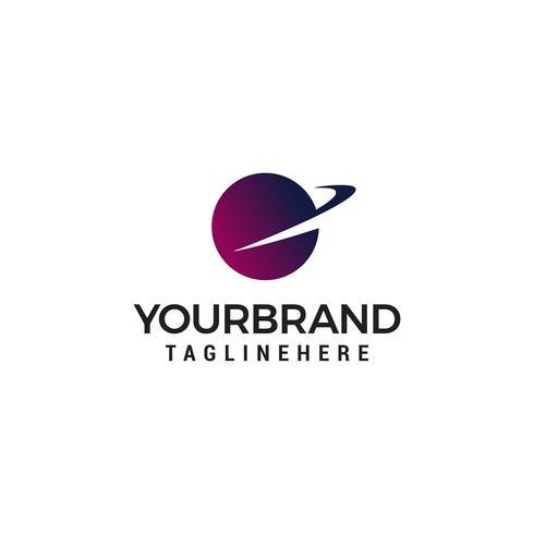 Globus schnelle Logo Design Konzept Vorlage Vektor