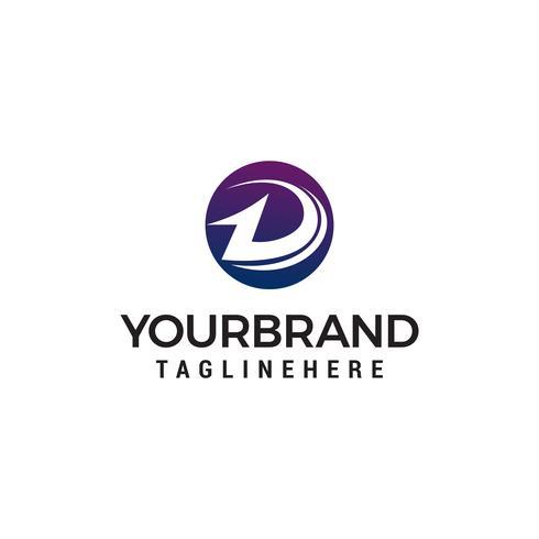 letra d logotipo design conceito modelo vector