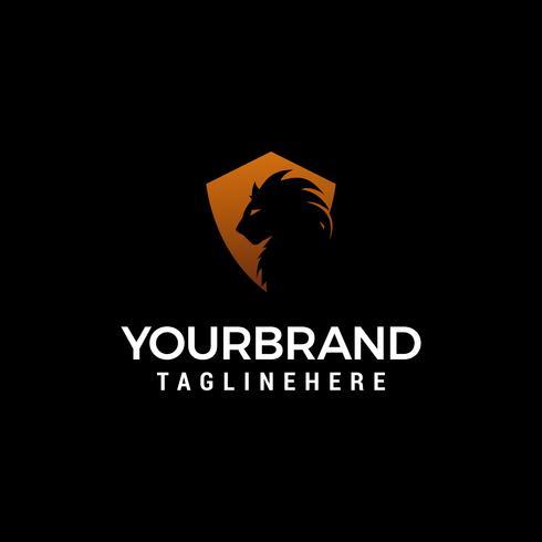 Lion shiled logo design koncept mall vektor