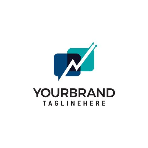 talk faster logo design concept template vector
