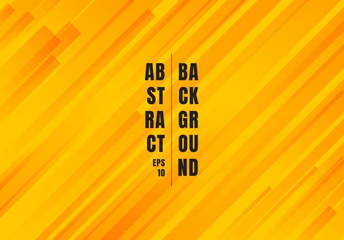 As linhas diagonais amarelas e alaranjadas geométricas abstratas alinham o fundo moderno do estilo do teste padrão.