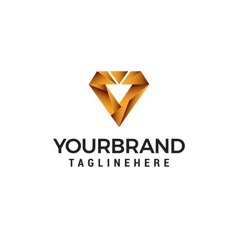 digital letter v logo design concept template vector