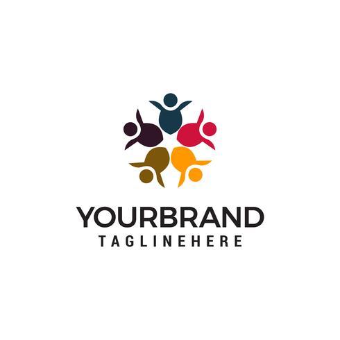 Vector de plantilla de concepto de comunidad comunidad alianza diseño de logotipo