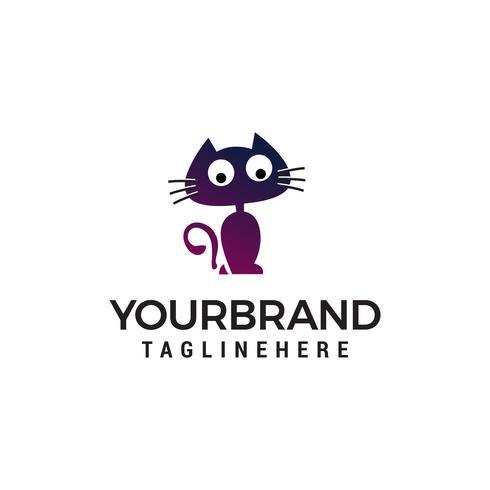 vector de plantilla de concepto de gato soporte dibujos animados logotipo diseño