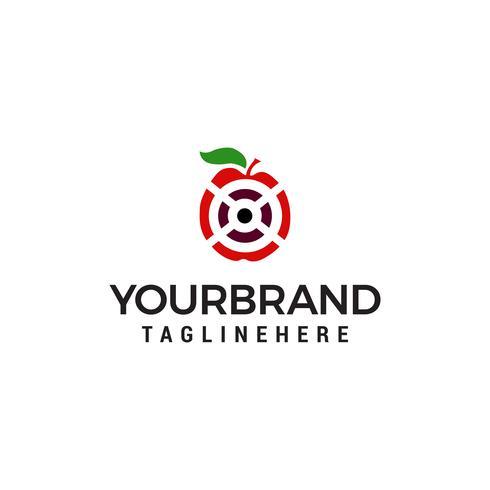 letter x fruit logo ontwerp concept sjabloon vector