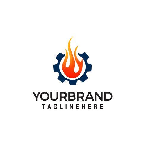 gas and oil logo design concept template vector