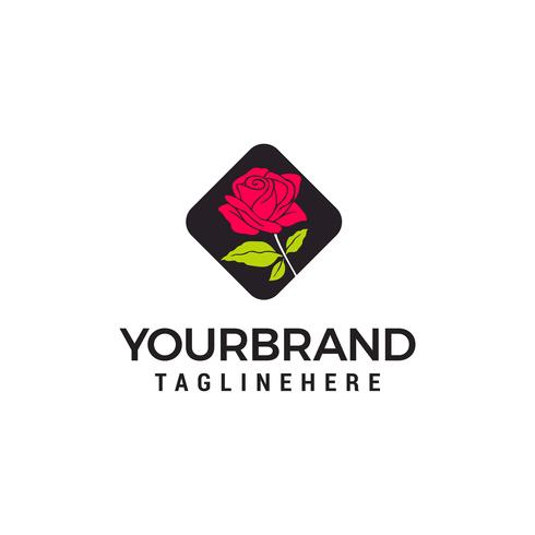 rose logo design concept template vecteur