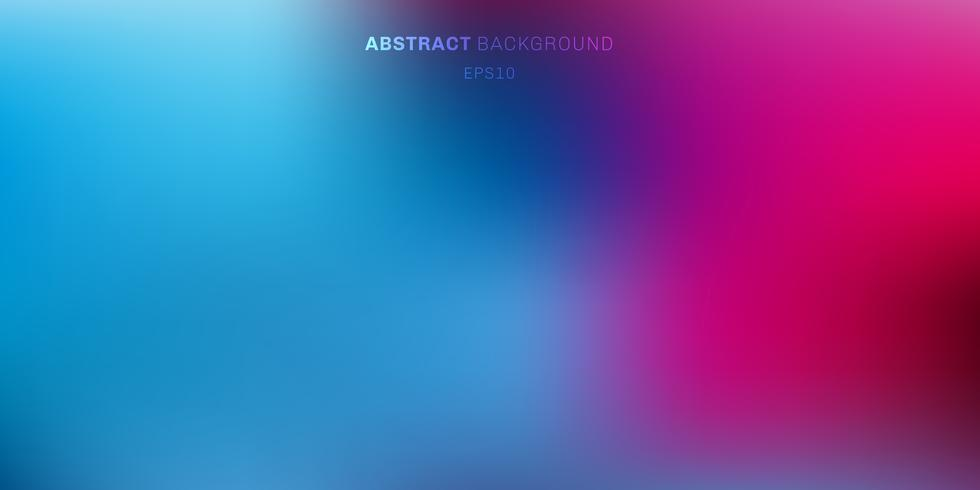 Abstract blue, purple, pink vibrant color blurred background. Soft dark to light gradient backdrop with place for text vector