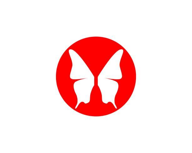 Borboleta simples conceitual, ícone colorido. Logotipo. Ilustração vetorial