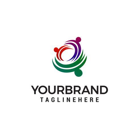 Familienpflege-Logo-Design-Konzept-Vorlage Vektor
