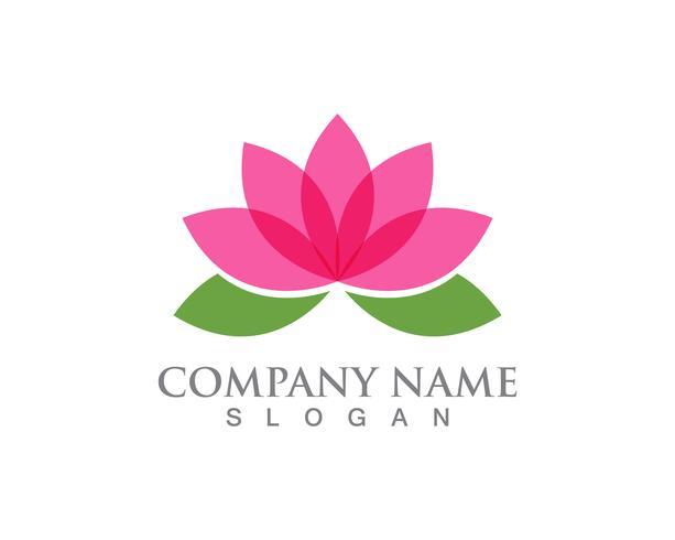 Sinal de flor de lótus para bem-estar, Spa e Yoga. Ilustração vetorial