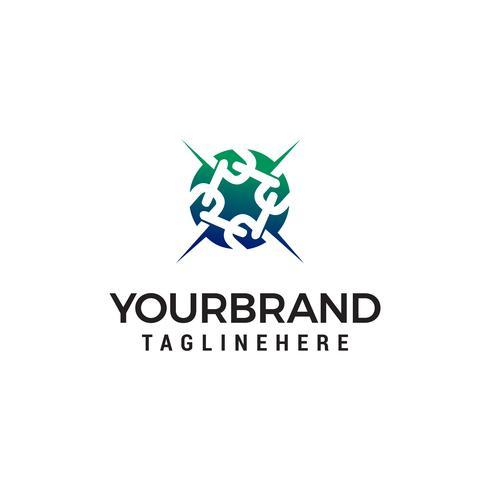 chain logo design concept template vector