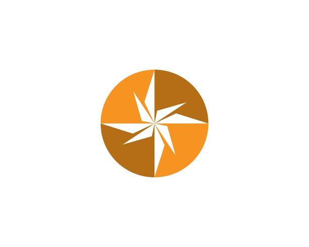 Kompasslogo och symbolmallikon vektorbild