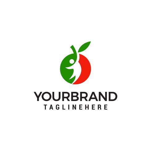 as pessoas frutas logotipo design conceito modelo vector