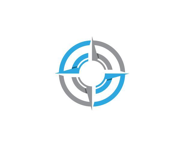 Bússola logotipo e símbolo modelo ícone vector imagem