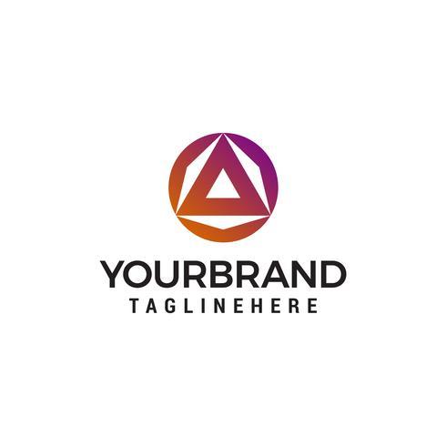 driehoek cirkel logo ontwerp concept sjabloon vector