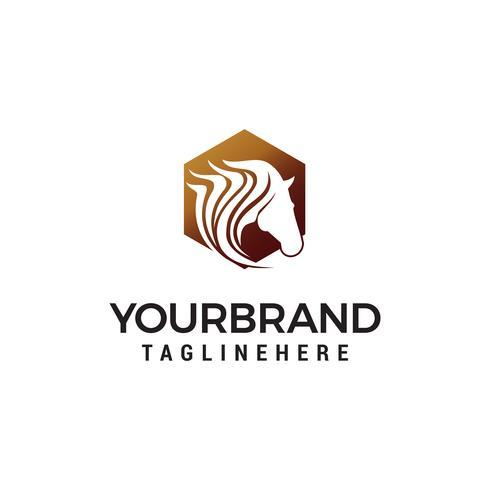 hoofd pegasus logo ontwerp concept sjabloon vector