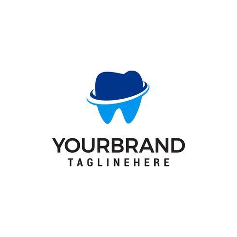 soins dentaires logo design concept template vecteur