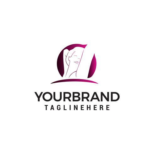 Vector de plantilla de concepto de diseño de logotipo de estilo femenino
