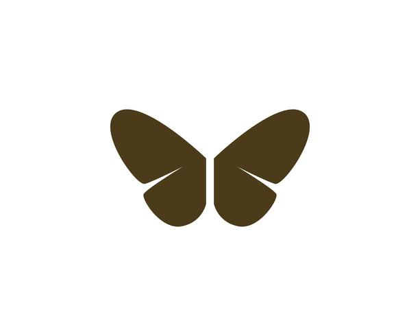 Mariposa conceptual simple, colorido icono. Logo. Ilustración vectorial vector