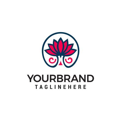 Bloemenlogo. Bloem pictogram. Bloemen embleem. Cosmetica, Spa, Schoonheidssalon, Decoratie, Boutique-logo.