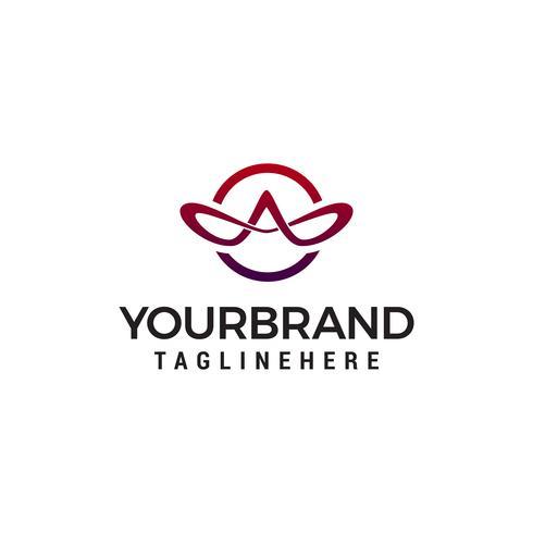 letra A elegante vector de plantilla de concepto de diseño de logotipo