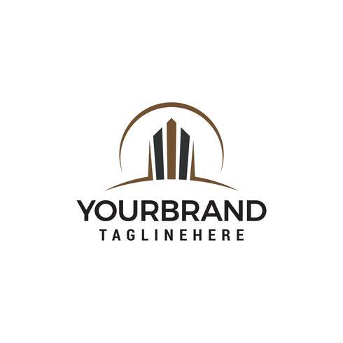 vetor de modelo de conceito de design de logotipo de construção
