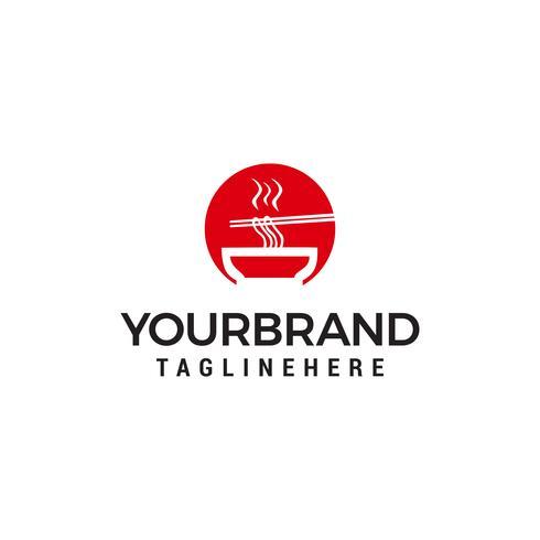 ristorante noodle logo design concetto modello vettoriale