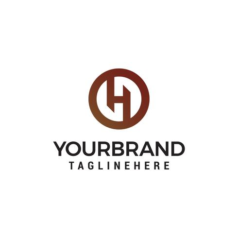 letter H logo design concept template vector