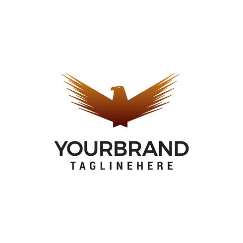 wing bird logo design concept template vector